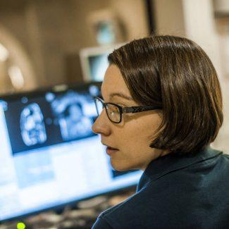 Die Arbeit in der Radiologie.